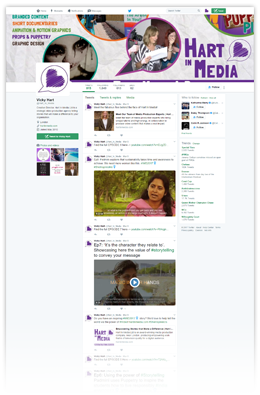 Twitter Feed showing video teasers